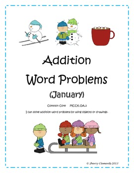 January Addition Word Problems