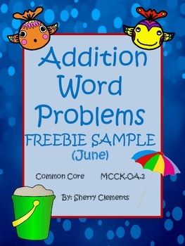 Summer Addition Word Problems (FREEBIE)