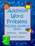 Addition Word Problems FREEBIE