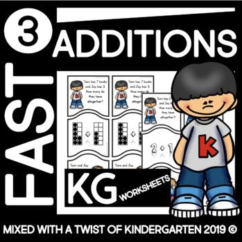 Addition Word Problems | Kindergarten | Puzzle Set