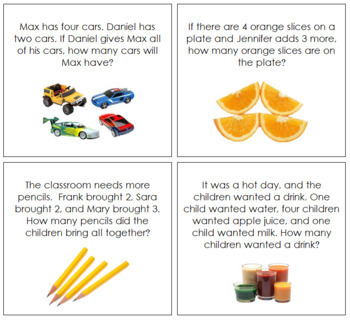 Addition Word Problems - Level 1