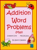 May Addition Word Problems Distance Learning