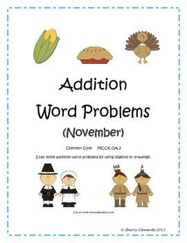 November Addition Word Problems