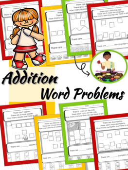 First Grade Addition Word Problems Beginners (Cut & Paste)