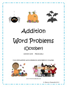 October Addition Word Problems