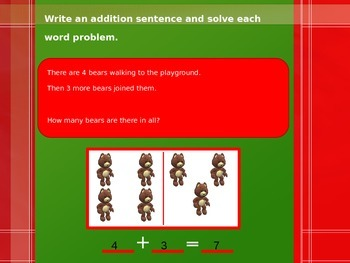 Addition Word Problems PowerPoint