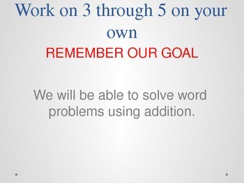 Addition Word Problems Powerpoint Lesson