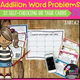 Addition Word Problems QR code Task Cards