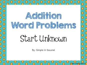 Addition Word Problems - Start Unknown (2.OA.1)