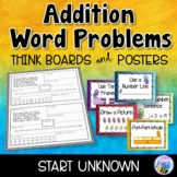 Addition Word Problems - Start Unknown - Think Boards - Sums to 20