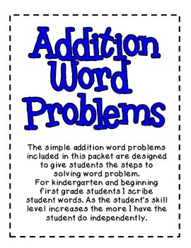 Addition Word Problems Step By Step
