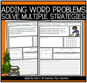Addition Word (Story) Problems & Number Sense With Sums to 20