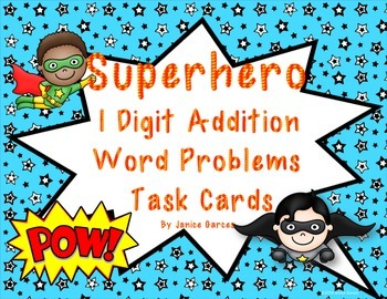 Addition Word Problems Super Hero