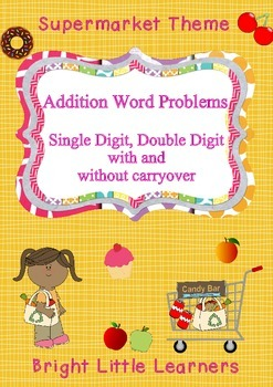 Addition Word Problems - Supermarket Theme