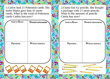 Addition Word Problems Task Cards #1