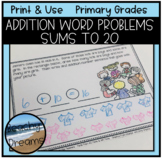 Addition Word Problems To 20   Distance Learning