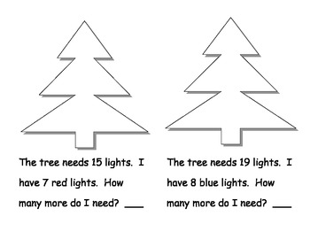 Addition Word Problems Winter Book