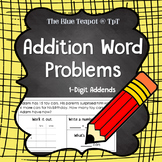 Addition Word Problems With Working Out - No Regrouping, 1