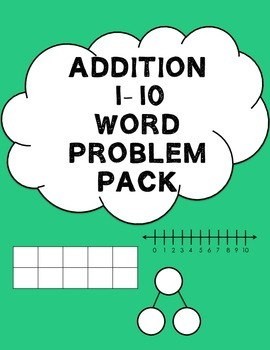 Addition Word Problems {Within 10}