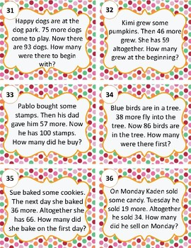 Addition Word Problems Within 100