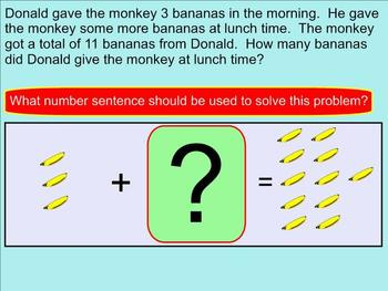 Addition Word Problems Within 20 With Missing Addends - Smartboard