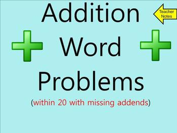 Addition Word Problems Within 20 With Missing Addends - Sm