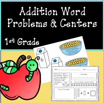 Addition Word Problems and Centers - First Grade