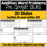 Addition Word Problems for Google Slides (Differentiated)