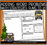 Addition Word (Story) Problems ~ Using Unknown Addends to Make Sums to 20