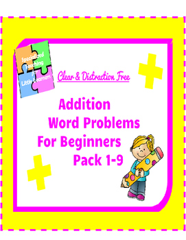 Addition Word Problems for beginners: 1-9 Pack #sped #BTSBONUS