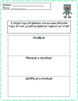 Addition Word Problems in Spanish