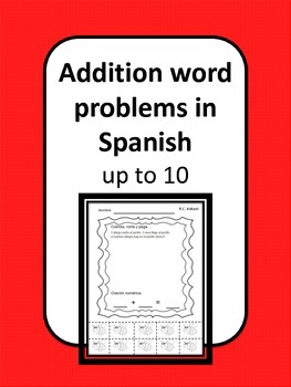Addition Word Problems in Spanish up to 10