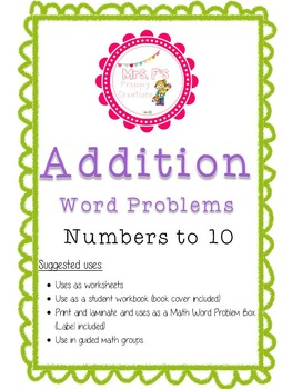 Addition Word Problems to 10
