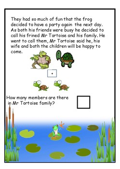 Addition Word Problems with Mr Frog