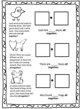 Addition Word Problems with Visuals