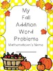 Addition Word Problems with a Fall Theme