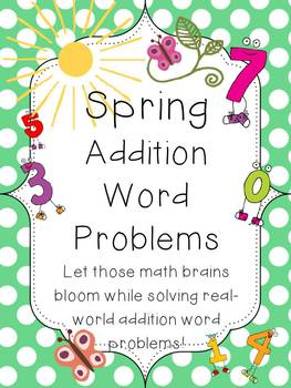 Addition Word Problems with a Spring Theme