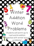 Addition Word Problems with a Winter Theme
