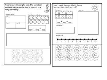 Addition Word Problems with interactive flip chart
