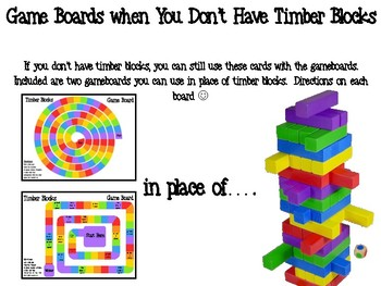 Addition Word Problems within 100 Timber Blocks (Jenga Based or Board Game)