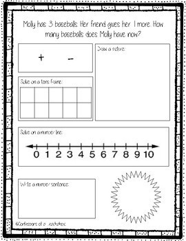 Addition Word Problems within 5 (Set of 15)- Multiple Strategies