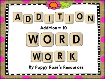 Word Work with an Addition Twist