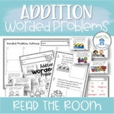 Addition Worded Problems Read the Room and Mini Book