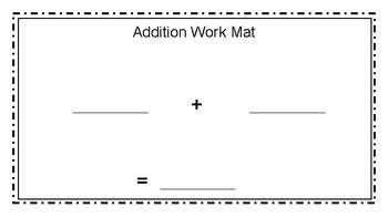 Addition Work Mat