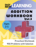 Addition Workbook : Easy Learning Math : 30 Days Challenge for 3-5 years