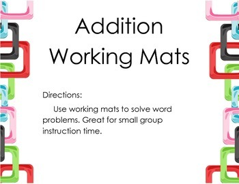 Addition Working Mats