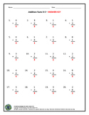 Addition Worksheet 0-5
