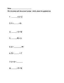 Addition Worksheet