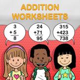 Addition Worksheet Maker - Create Infinite Math Worksheets!