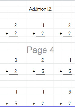 Addition Worksheet Generator (with options for a sum of up to 100)